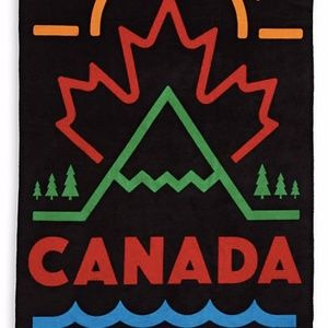 NWT Canada Olympic & Paralympic Team Velour Towel